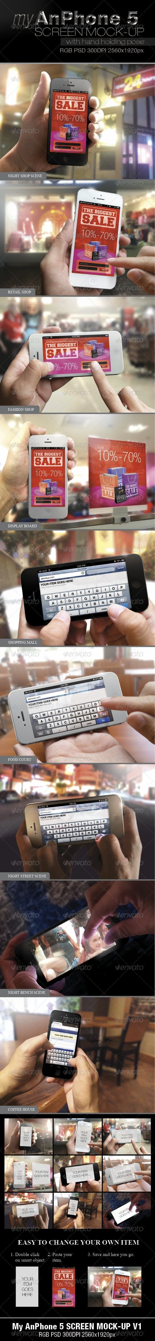 Iphone 5 Screen Mock-up V1 - Mobile Displays