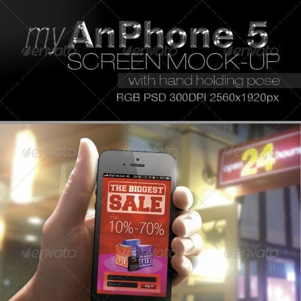Iphone 5 Screen Mock-up V1
