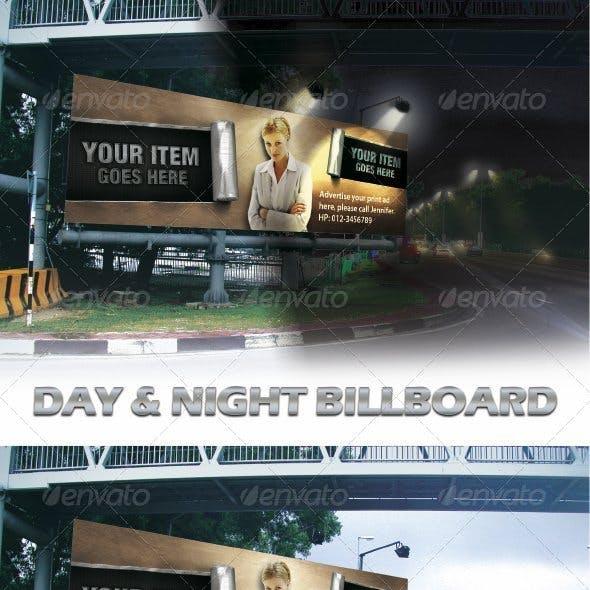 Day & Night Billboard Mock-ups
