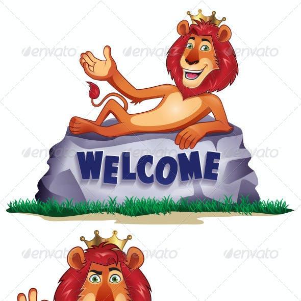 Lion Mascot Set