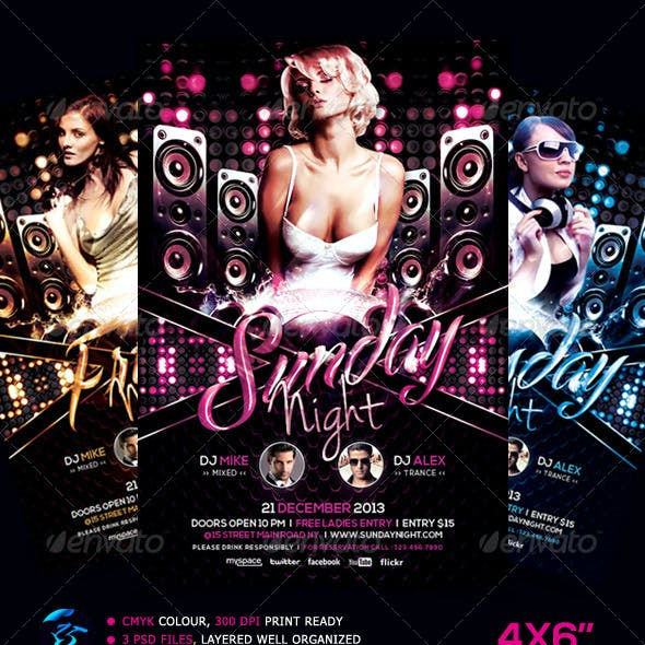 Everyday Party Nightclub Flyer Template