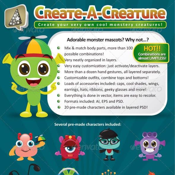 Create-A-Creature - Mascot Monster Pack