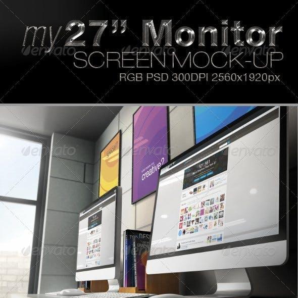 "My27"" Monitor Screen Mock-Up"