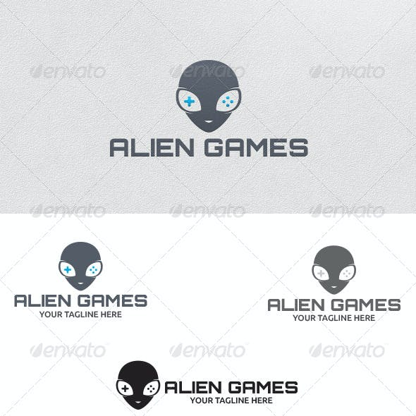 Alien Games - Logo Template