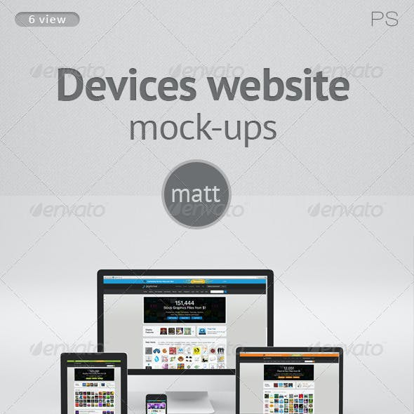 Devices website Mock-ups matt