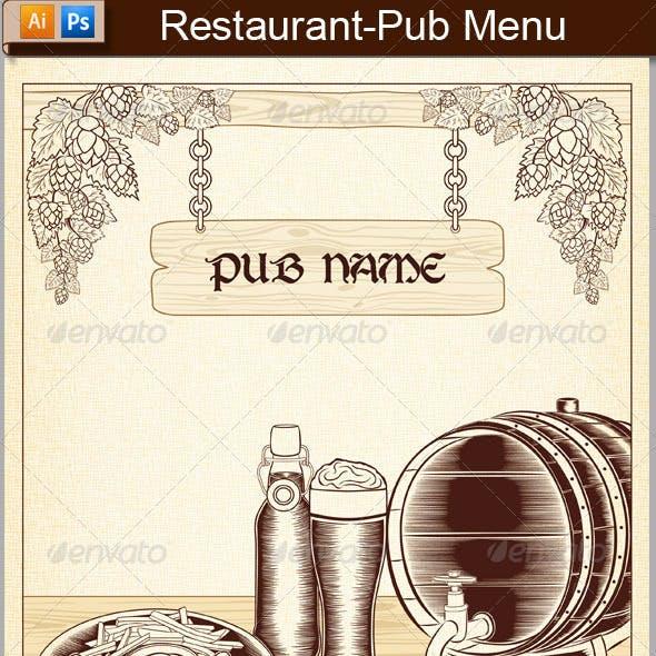 Restaurant-Pub Menu
