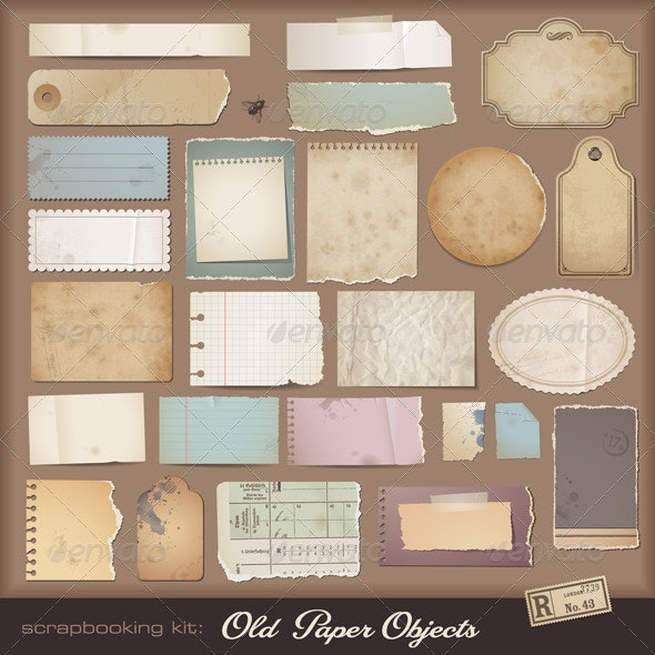 Vintage Paper Objects  - Man-made Objects Objects
