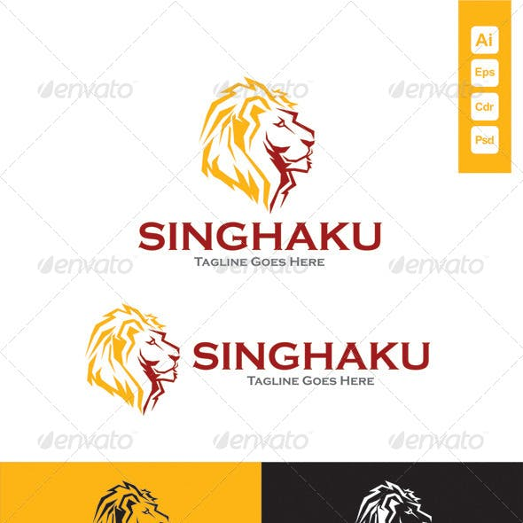 Singhaku Lion Head Logo Template