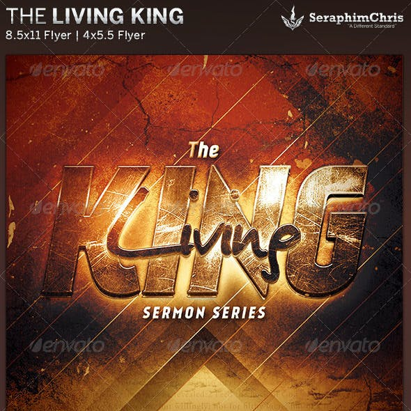 The Living King: Church Flyer Template