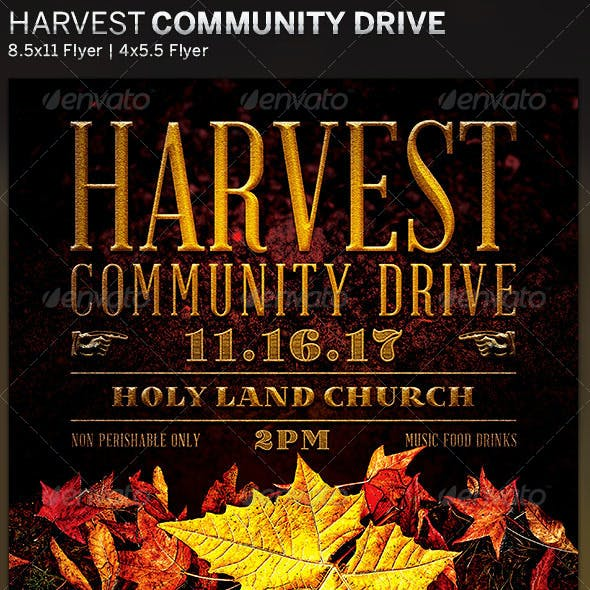 Harvest Community Drive: Church Flyer Template
