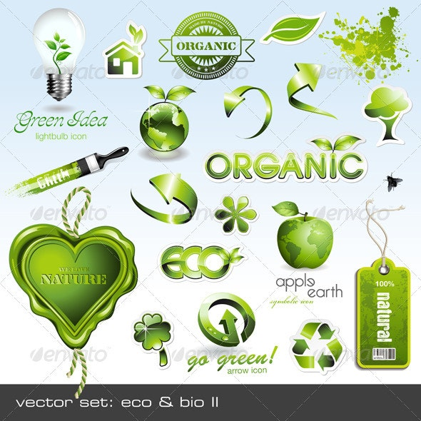 Eco & Bio Icons and Design Elements - Nature Conceptual