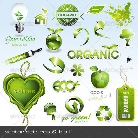 Eco & Bio Icons and Design Elements