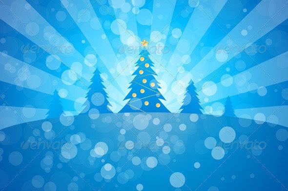 Winter Christmas Trees - Christmas Seasons/Holidays