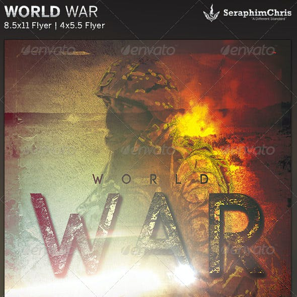 World War: Church Flyer Template