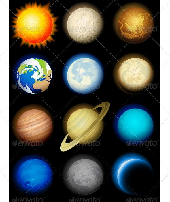 Planets Icon - Miscellaneous Vectors