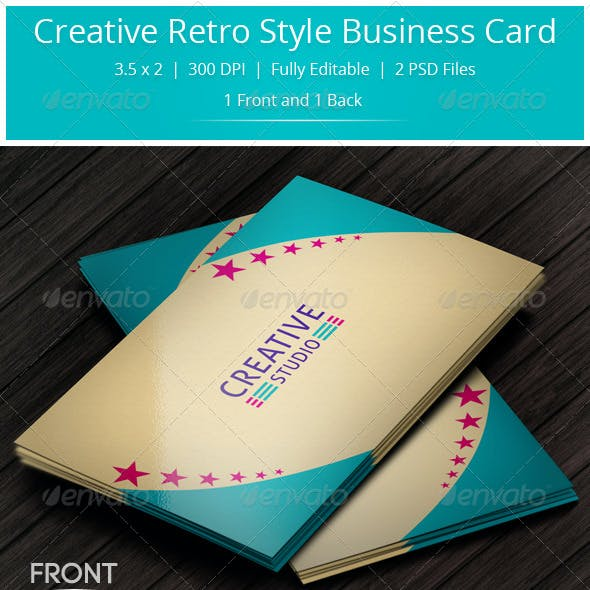Creative Retro Style Business Card