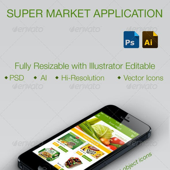 Online Super Market Application for Smartphones