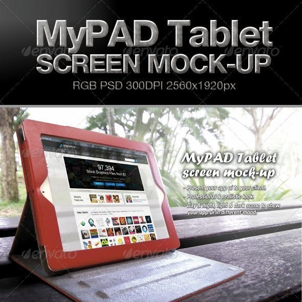 MyPAD Tablet Screen Mock-up