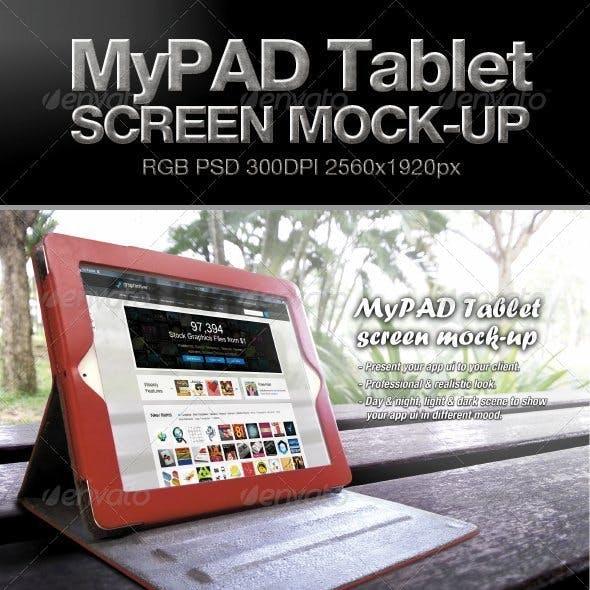 MyPAD Tablet Screen Mock-up