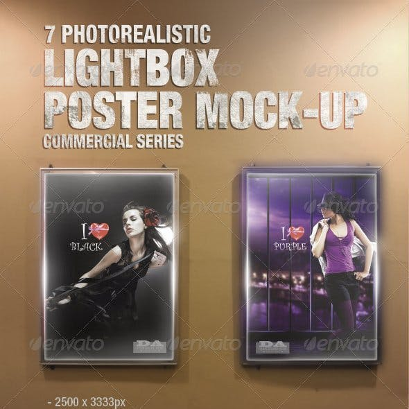 Lightbox Poster Mock-Ups