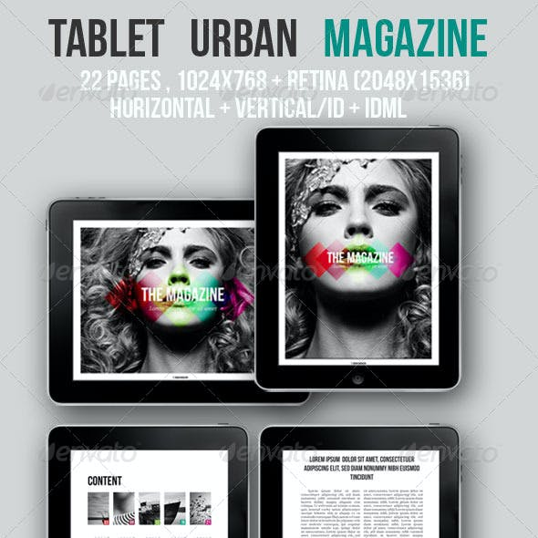 iPad & Tablet Urban Magazine