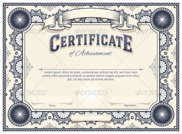Certificate Template - Decorative Vectors
