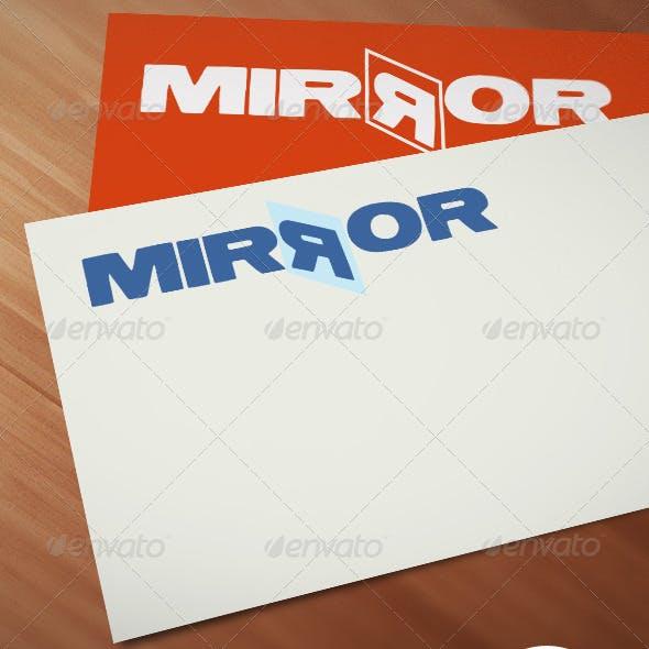 Mirror Logo Template