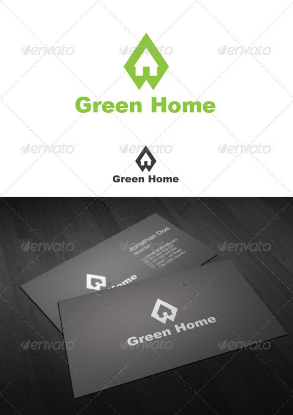 Green Home Logo - Letters Logo Templates