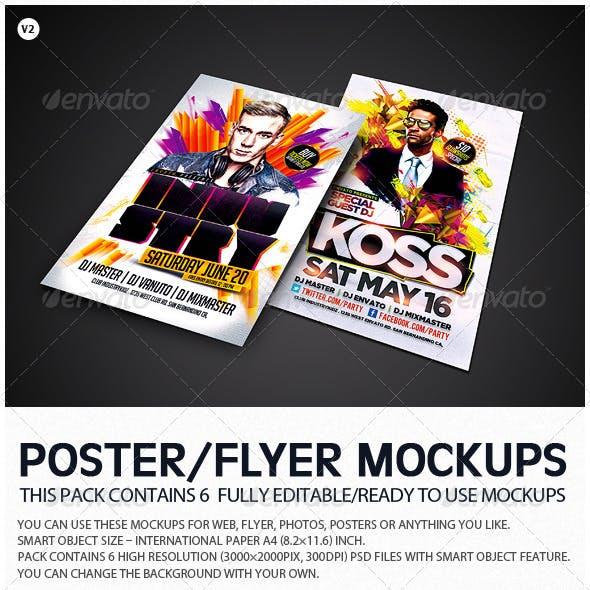 Flyer Poster Mockups V2