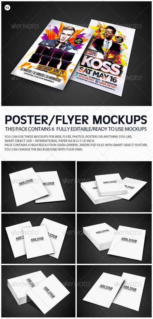 1235af66962e Flyer Poster Mockups V2 by ydlabs | GraphicRiver