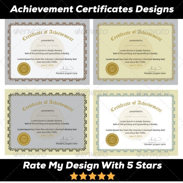 Excellence Award & Achievement - Certificates Stationery