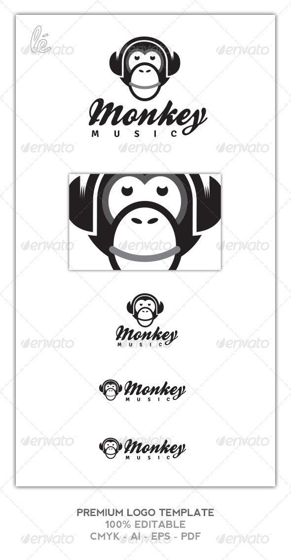 Monkey Logo | DJ Logo | Music Logo - Animals Logo Templates