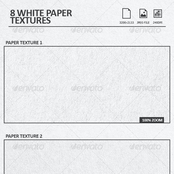 8 White Paper Textures