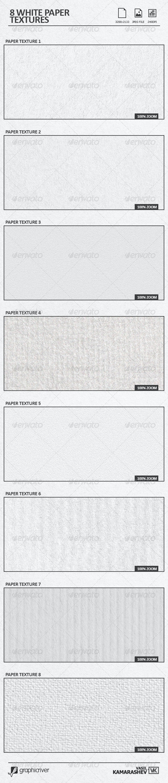 8 White Paper Textures - Paper Textures
