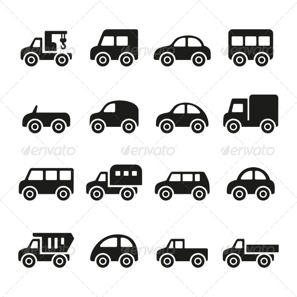 Cars Icon Set - Technology Icons