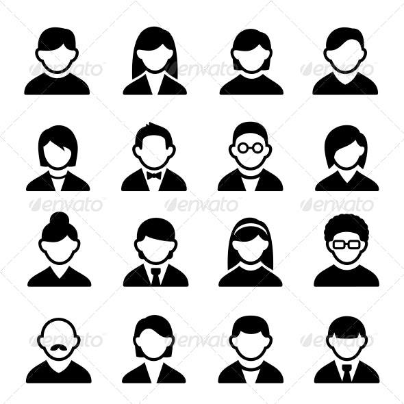 User Icons Set 1 - People Characters