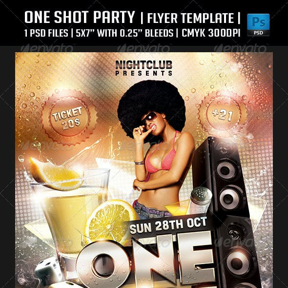 One Shot Party Flyer Template