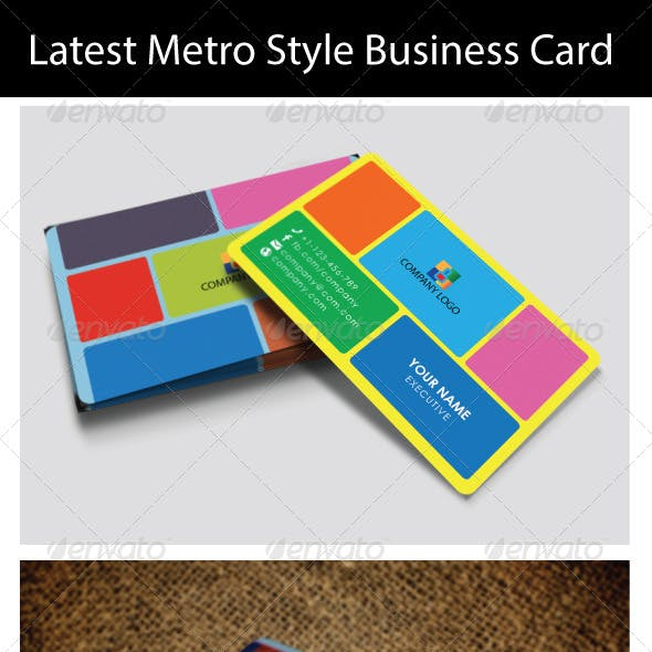 Latest Metro Style Business Card