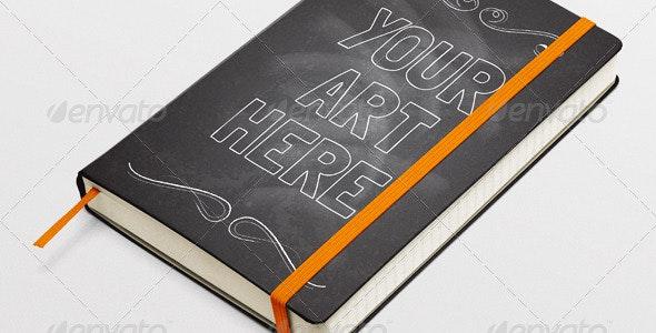 Moleskin Notebook Mock-Up - Books Print