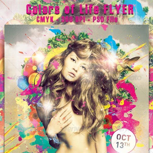 Colors of Life Flyer