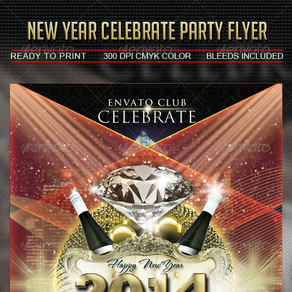 New Year Celebrate Party Flyer