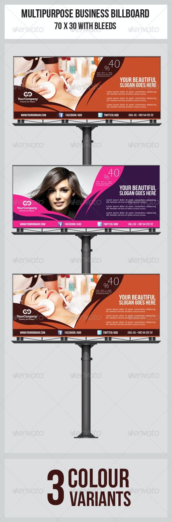 Hair & Beauty Salon Business Billboard  - Signage Print Templates