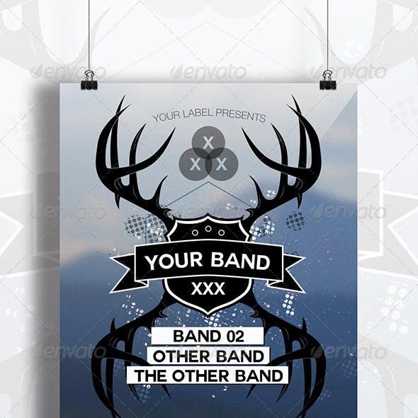 Alternative Band Party Flyer