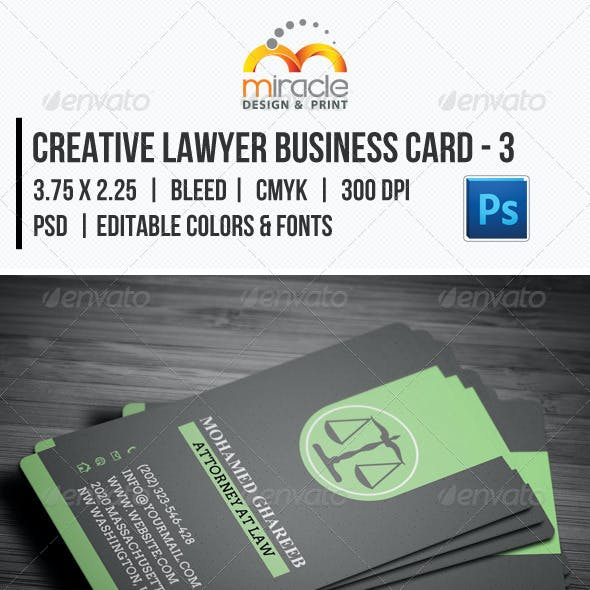 Creative Lawyer Business Card #3