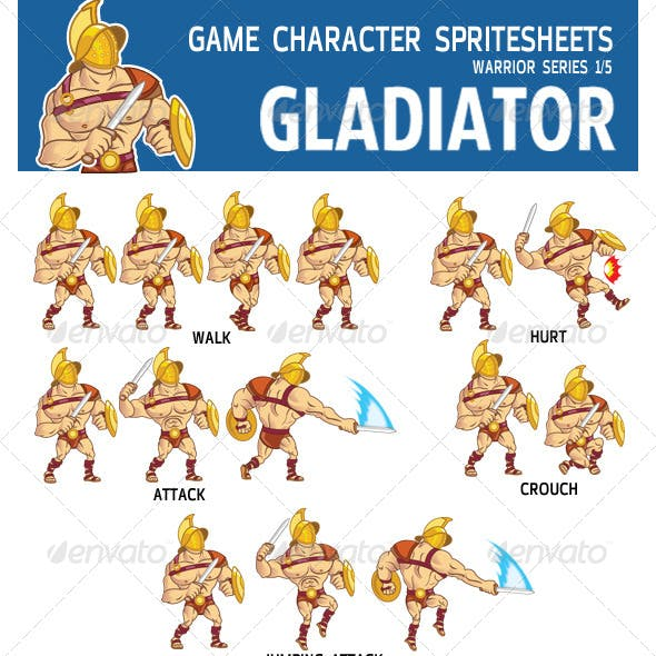 Gladiator Game Character Sprite
