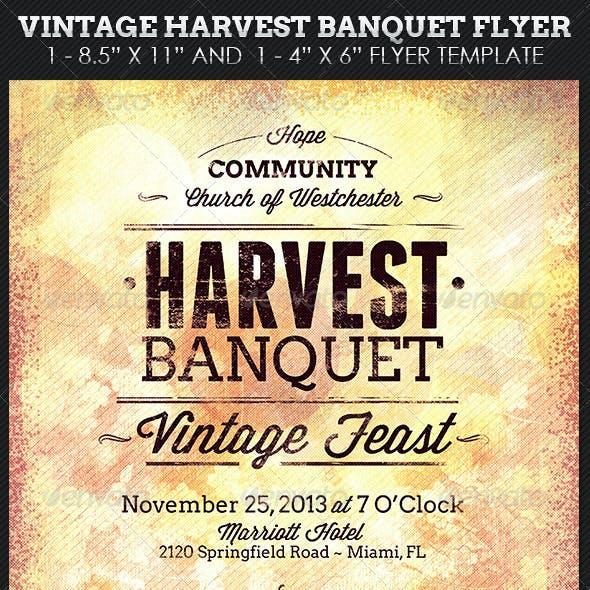 Vintage Harvest Banquet Flyer Template