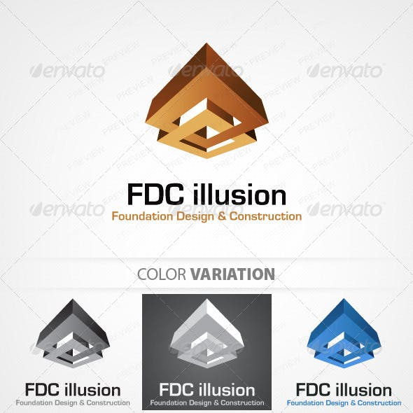 Foudation design and Construction logo template