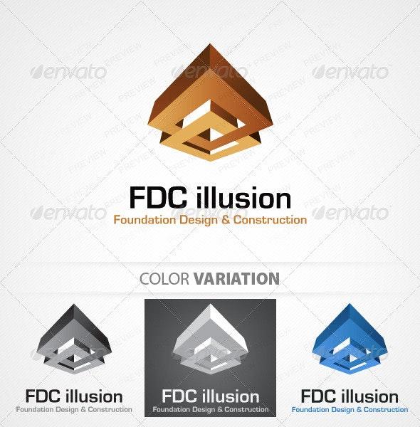 Foudation design and Construction logo template - Buildings Logo Templates