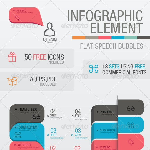 Flat Speech Bubble Infographic Elements