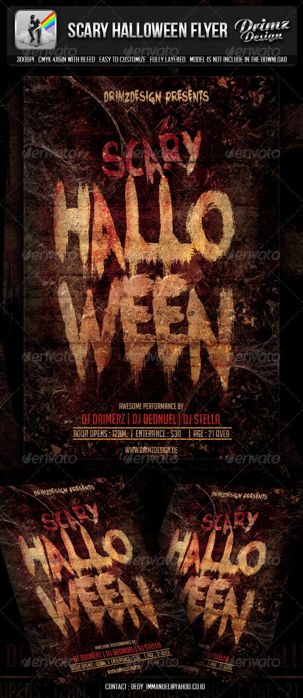 Scary Halloween Flyer - Events Flyers